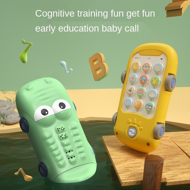 Baby Phone Toys For Babies From 0 12 Months Girl Mobile Phone Musical Toy Kids Educational Interactive Toy Learning Machine Gift 1