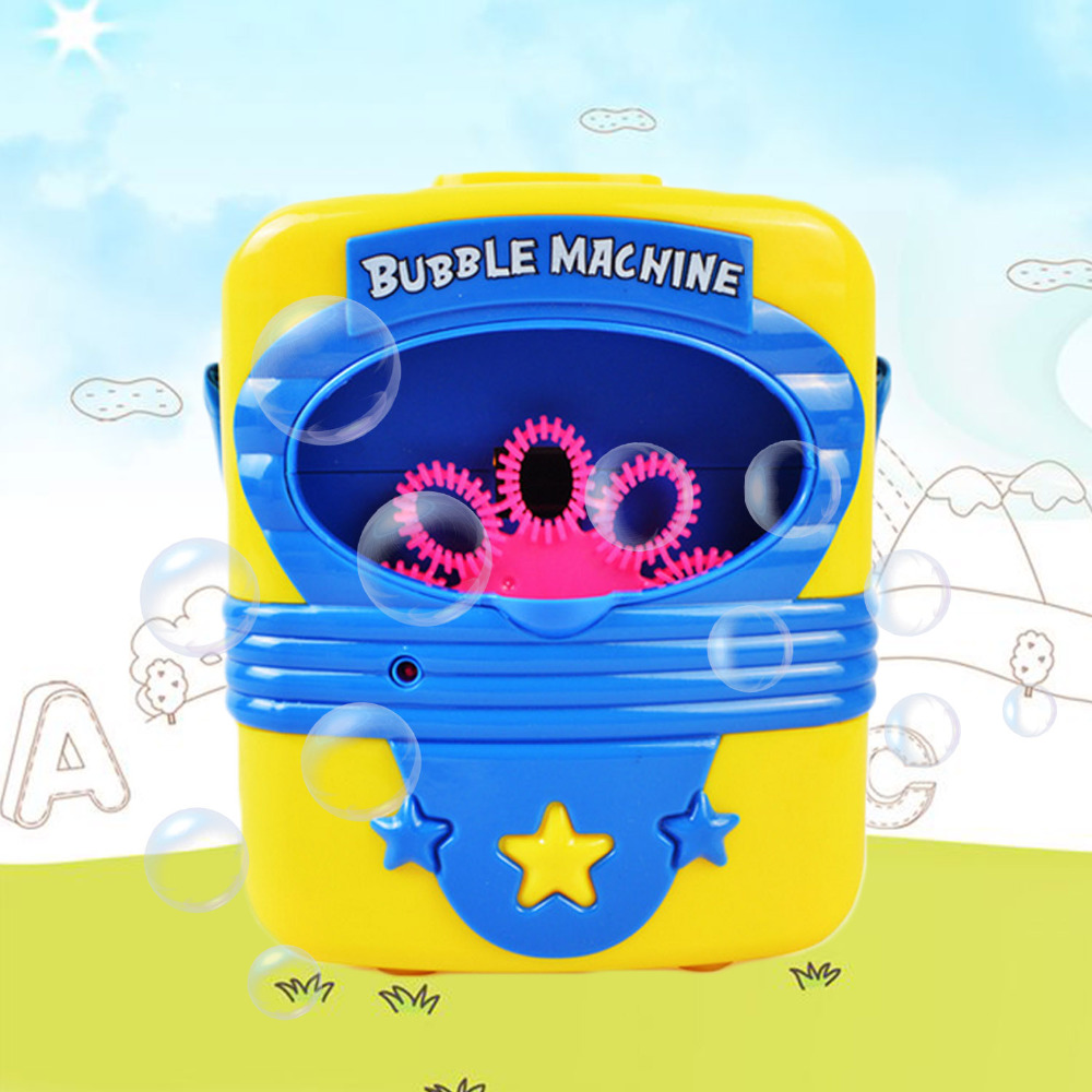 Automatic Electric Handy Bubble Machine Toys Soap Blow Bubbles Blower Maker Bubble Blowing Show Kids Indoor Outdoor Sports Toy