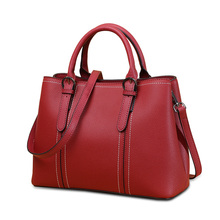 Leather Handbags Bags for Women 2018 New Top Layer Cowhide Ladies Handbag Middle-aged Fashion Mother Bag Slung Shoulder Bag fashion leather handbags big bag top layer leather handbag ladies shoulder bag platinum bag tide
