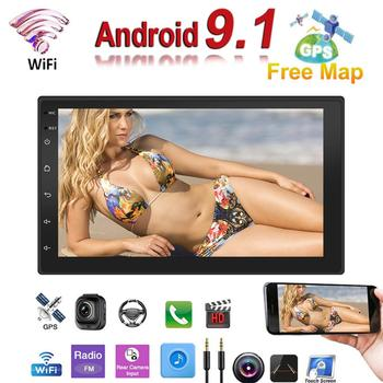 Android 9.1 System 16G Memory 7IN Touch Button HD Car Bluetooth MP5 Player Car 2 DIN Radio GPS Navigation All-in-one Device new car radio 7 inch bluetooth car player navigation all in one machine android 8 1 16g memory 7 touch screen hd mp5 player