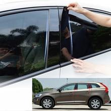 Autocollant de garniture de pilier de fenêtre, autocollant de voiture pour Volvo XC60 XC 60 2015 2016 2017 PC 6 pièces