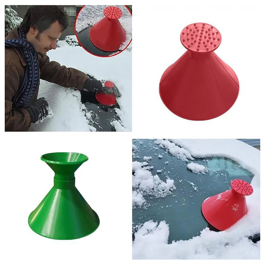 Auto Car Magic Cone-Shaped Windshield Ice Scraper Snow Shovel Tool Funnel Three-piece Suit Snow Remover Deicer Outdoor Deicing