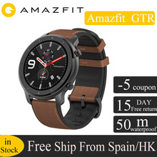 Global Version Huami Amazfit GTR 47mm GPS Smart Watch Men 5ATM Waterproof Smartwatch 24 Days Battery AMOLED Screen 12 Sport Mode global version huami amazfit gtr 42mm smart watch 5atm smartwatch 12days battery gps music control for xiaomi android ios