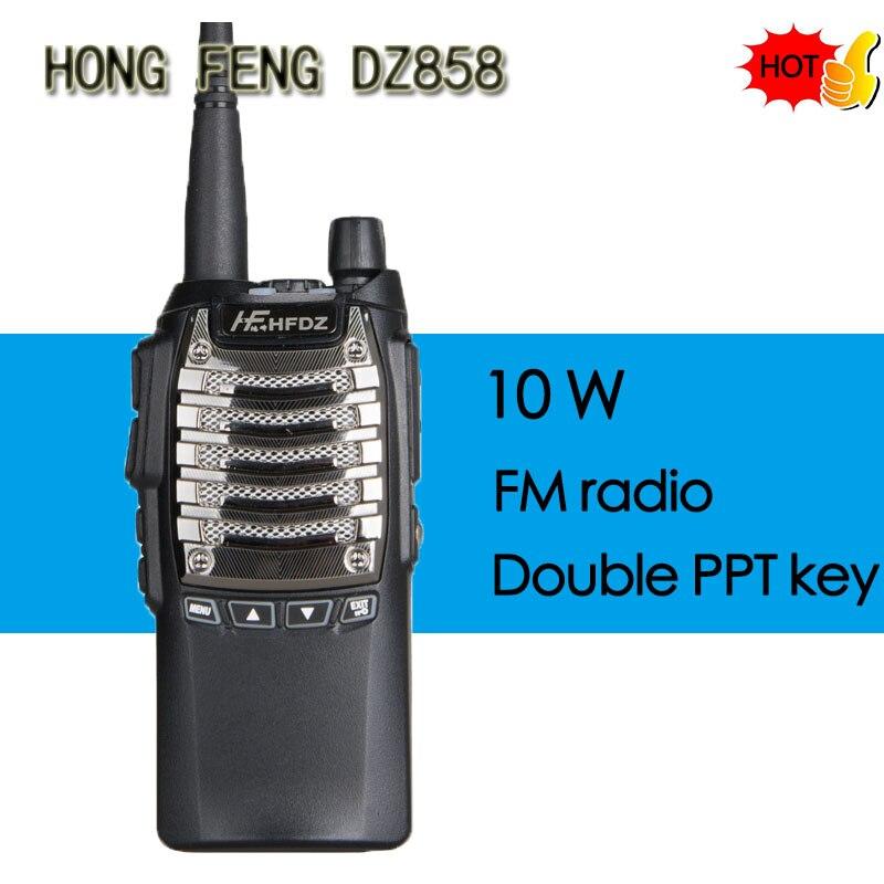 HONGFENG HF-858 Handheld Walkie Talkie Portable Radio 10W High Power UHF Handheld Two Way Ham Radio Communicator HF Transceiver