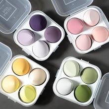 4 Pcs/Set Makeup Sponge Puff Makeup Puff Healthy Latex Soft Sponge Wet And Dry Suit Bevel Makeup Tools