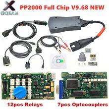 Nova chegada lexia 3 chip completo diagbox v9.68 v7.83 8.55 pp2000 v25/v48 firmware 921815c para citroen/peugeot obdii ferramenta de diagnóstico