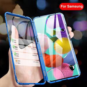 Image 5 - Manyetik adsorpsiyon Flip telefon kılıfı için Samsung A51 A21s A71 A30s A50 M30s S20 Ultra arka kapakları Samsung S 20 artı bir 51 kabuk çanta
