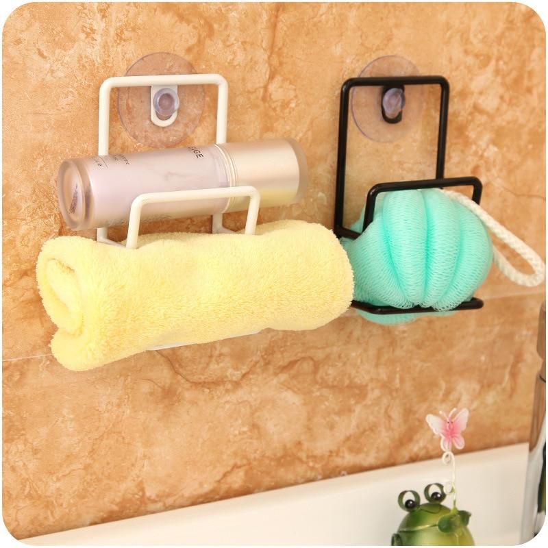 Wall Mounted Kitchen Sponge Rag Drain Rack Sink Sundries Storage Holder Bathroom Towel Rack Soap Dishes Storage Tray Organizer