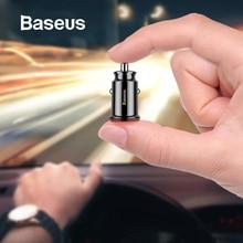 Baseus Mini USB Автомобильное зарядное устройство для мобильного телефона планшета gps 3.1A быстрое зарядное устройство автомобильное зарядное устройство двойной USB автомобильный адаптер зарядного устройства для телефона в автомобиле