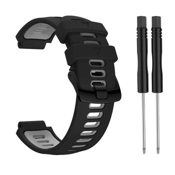 10 Colors Silicone 22mm Strap Sports Strap For Garmin Forerunner 735xt 220 230 235 620 630 Two-color Silicone Replacement Steel 10