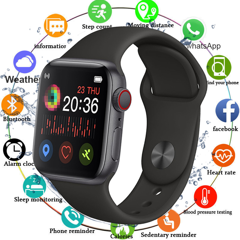 2020 Smart Watch Men Full Touch Screen Waterproof Fitness Tracker Smartwatch Women Bluetooth Call Watches IWO 12 For Android IOS