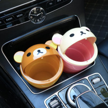 In-car trash bin multi-functional sundries in-car receptacle Cute Cartoon Cashier