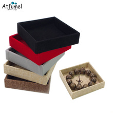 Square Velvet Jewelry Storage Organizer Case Bracelet Ring Earring Pendant Tray Jewelery Box Wedding Ring Holder