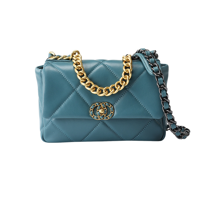 High Grade Sense Graceful Bag Women's 2019 New Style Fashion Autumn And Winter Fashion Rhombus Bag With Chain Shoulder Cover Bag