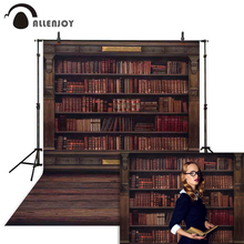 Allenjoy Photography backdrops Book shelf in Library graduation season back to school photophone background for photo studio