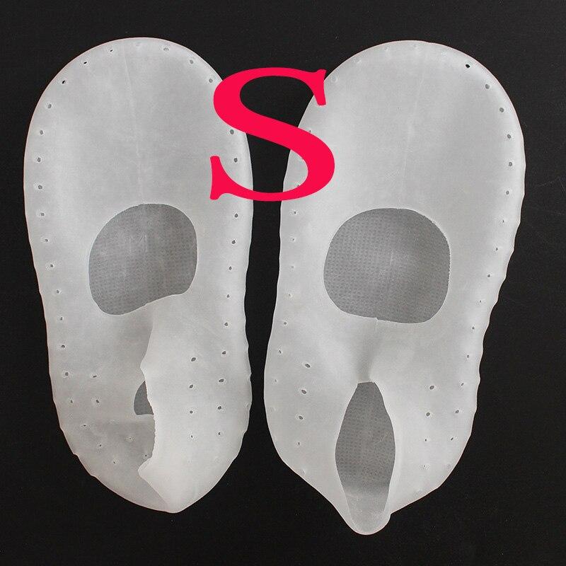 1 пара носки с гелевой подошвой, силиконовый инструмент для ухода за ногами, защита для ног, защита от боли, защита от трещин, увлажнение, удаление ороговевшей кожи, носок с отверстием - Цвет: S Clear 33-35