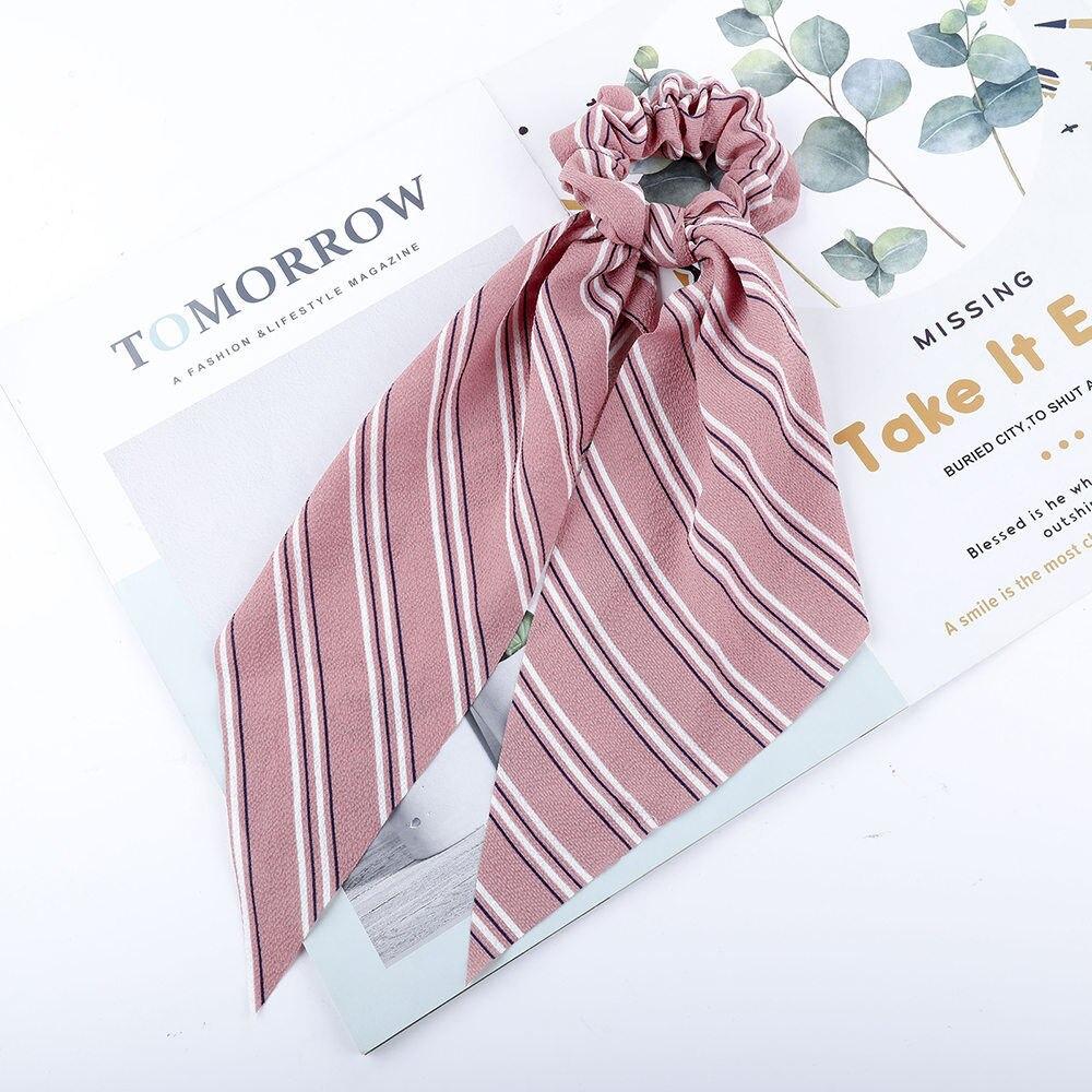 Levao fleur impression cheveux écharpe arc chouchous queue de cheval bandeau pour femmes cheveux accessoires nœud papillon élastique cheveux corde bandeaux 40