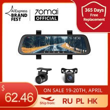 Car DVR Media Car-Recorder 70mai Mirror Auto Cam Dash-Cam Stream Full-Screen Wide 1080P