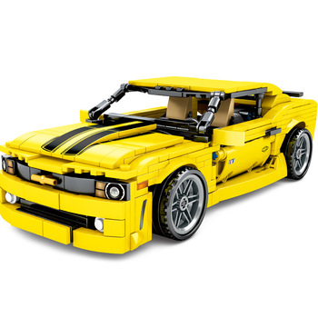 Pull Car  Super Race Car Building Bricks Famous Vehicle Model Educational Toy for Children Boy Gifts Kids Toys