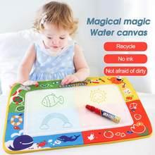 29*19cm mágica água das crianças lona crianças pintura a água desenho brinquedo placa da esteira com caneta mágica presente de natal do miúdo
