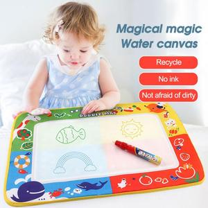 29*19cm Children's Magical Magic Water Canvas Kids Water Painting Drawing Toy Mat Board With Magic Pen Kid Xmas Gift