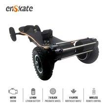 EnSkate AT 3000W All Terrain Electric Skateboard Dual Belt Motor 14AH battery Fiberglass Bamboo double-drop deck Scooter