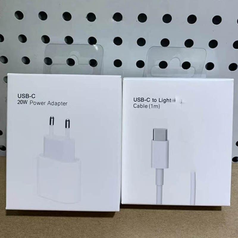 20 Вт оригинальный для iphone 12 Pro Зарядное устройство USB C C2L DC адаптер питания AC DC Быстродействующее зарядное устройство PD QC3.0 для Apple для iPhone 12 ми...