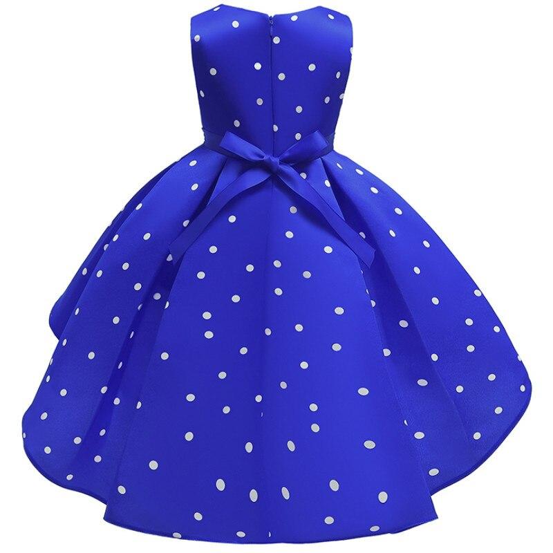 Baby Girls Christmas Flower Striped Dress For Girls Wedding Party Dresses Toddler Kids Brithday Dot Dress Children Clothing 6
