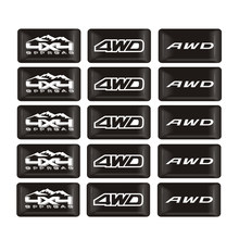 Autocollant époxy style voiture AWD 4WD 4X4 emblème Badge décoration décalcomanie pour Toyota Subaru Forester XV Mitsubishi Asx route SUV(China)