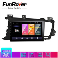 Funrover 2.5D+IPS Android 9.0 Car DVD Player for Kia K5/Kia Optima 2011 2015 car gps radio GPS Navigation Multimedia Stereo dsp