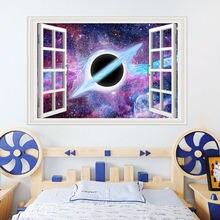 3d Звездная Вселенная серия наклейки на стену спальня черное