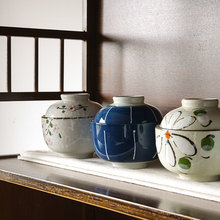 Nest-Cup Ceramic Japanese Stewed with Lid Small Soup Rice-Bowl Ball Cover Tureen Bird's