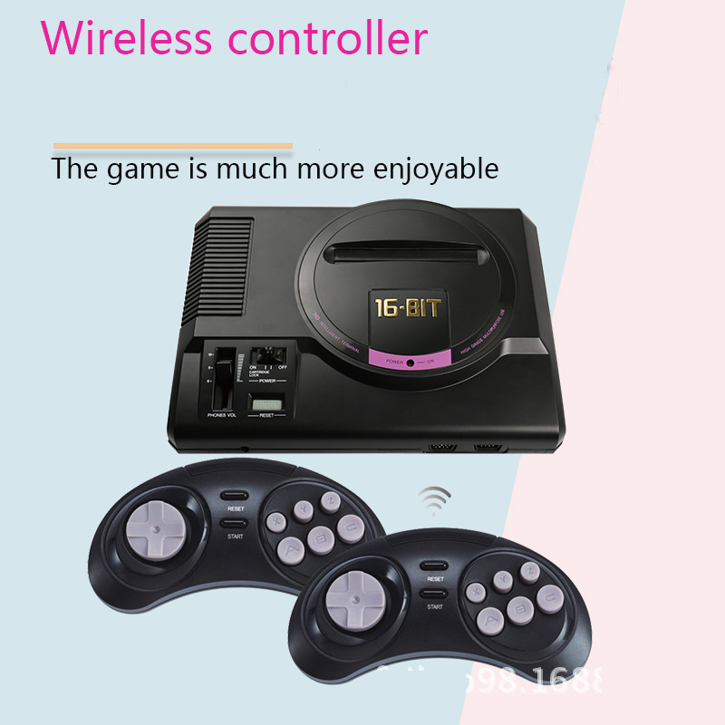 Coolbaby  Classic nostalgic 16 bit home game console HD output card 2.4G dual wireless controller super red and white machine