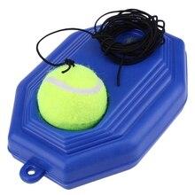 Одиночный Теннисный тренажер для самообучения, тренировочный инструмент для занятий теннисом, тренировочный тренажер для занятий теннисом, плинтус, устройство для спарринга