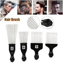Hair Comb Steel Needle Insert Hair Pick Comb Oil Tip Tail Comb Hair Brush Hairdressing Styling Tool rimei abs band top comb tail comb set brown 2 pcs
