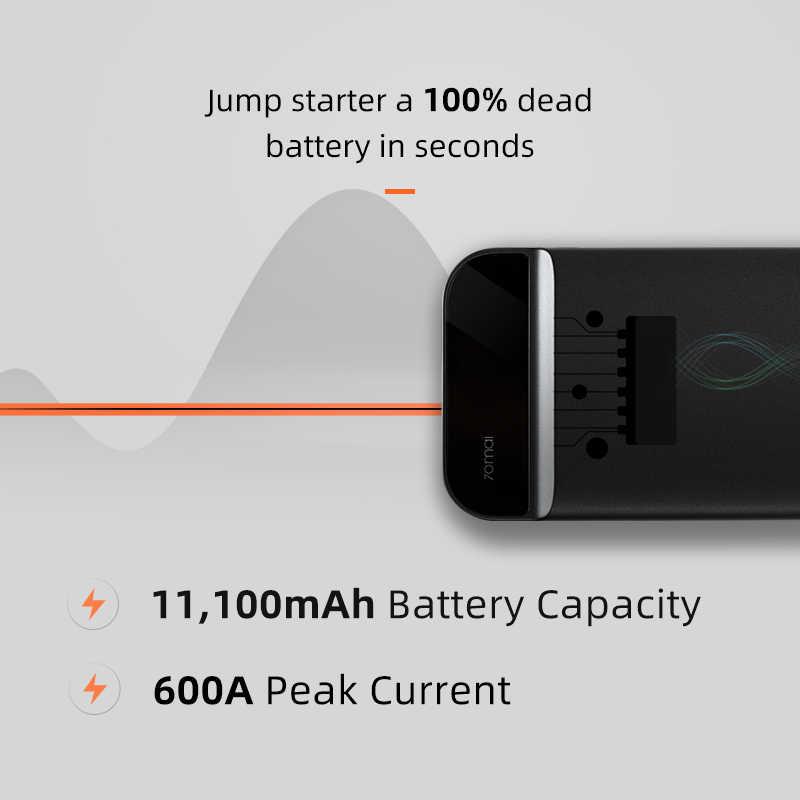 70mai urządzenie do awaryjnego uruchamiania 70mai urządzenie do uruchamiania awaryjnego samochodu urządzenie do awaryjnego  baterii  11000mah rozrusznik samochodu Auto Buster awaryjnego samochodu Booster baterii