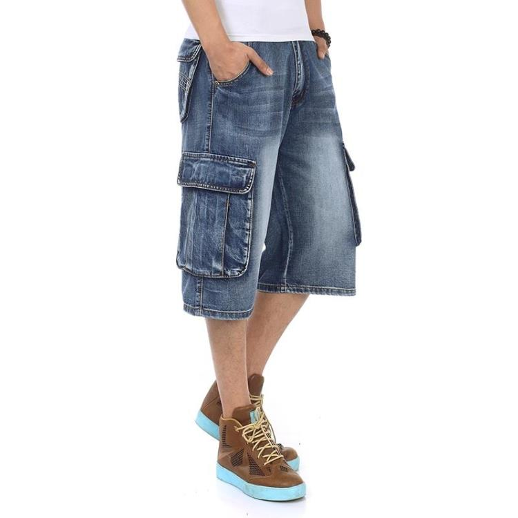 Plus Size 46 Summer New Men's Fashion Casual Slim Fit High Quality Elastic Denim Shorts Stretch Short Jeans Male Brand Clothes