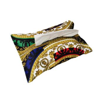 Tissue Case Box Velvet Home wielokrotnego użytku etui podróżne ręcznik serwetka papiery uchwyt na torebkę pudełko na chusteczki pojemnik na biuro Home Decoration tanie i dobre opinie Plush PRINTED Europa Domu Samolot Restauracja 21x27cm
