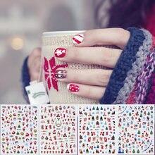 5 листов рождественские слайдеры наклейки для дизайна ногтей