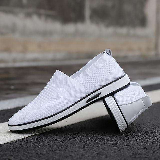 Zapatos informales para hombre, calzado Formal, plano, blanco, moda, 7 11
