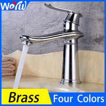 Bathroom Basin Faucet Black Single Handle Brass Faucet Toilet Sink Single Hole Hot and Cold Water Faucet