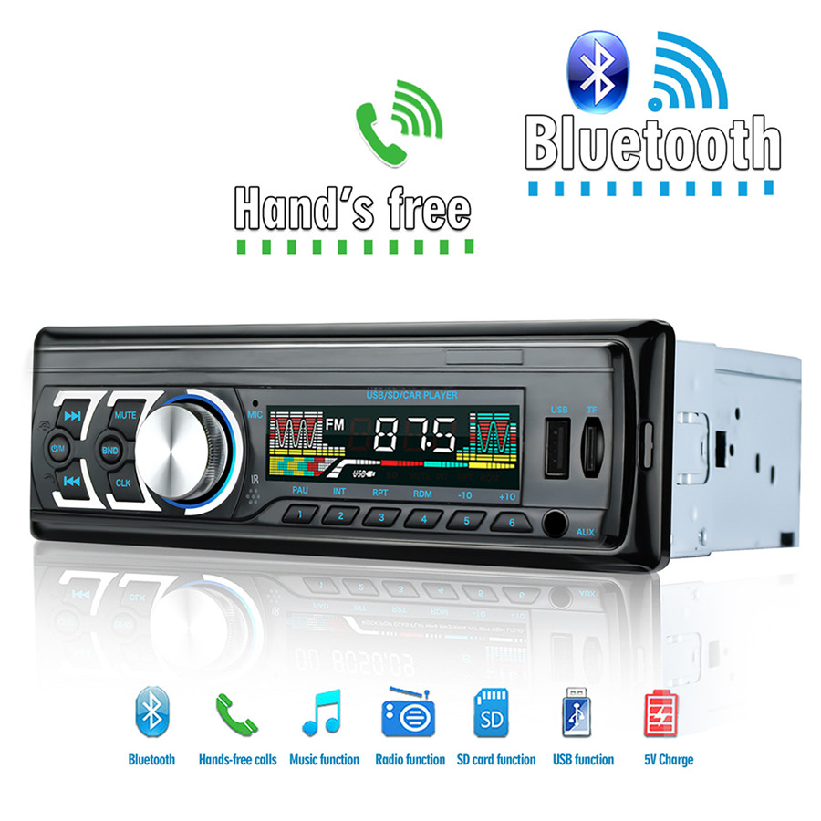 4CH Bluetooth Car Audio Stereo MP3 Player FM AM Aux IN Receiver In-Dash 12V