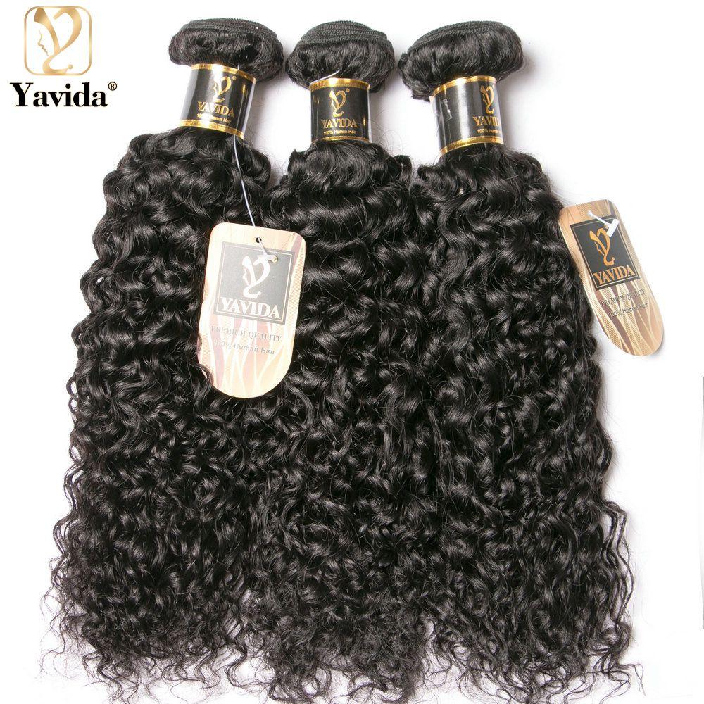 Yavida бразильские кудрявые натуральные кудрявые пучки волос человеческие волосы 1/2/3 Связки человеческих волос комплект De Cheveux Humains утки