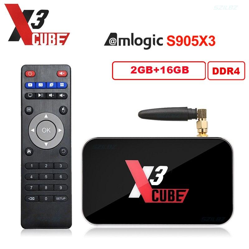 Neueste Ugoos X3 PRO TV Box Android 9,0 4GB RAM 32GB DDR4 Amlogic S905X3 2,4G/5G WiFi 1000M 4K X3Cube 2GB 16GB set top box X3pro
