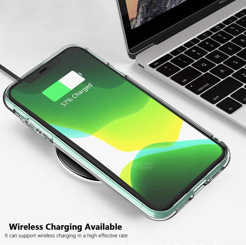 Para IPhone 11 Pro 8 7 6 6s Plus 5 5S 4S X XS XR MAX funda transparente suave de silicona TPU funda ultrafina para teléfono móvil