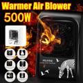 220В 500 Вт мини мультипликационный Электрический нагреватель Портативный подключаемый Электрический вентилятор нагреватель воздуха зимний...