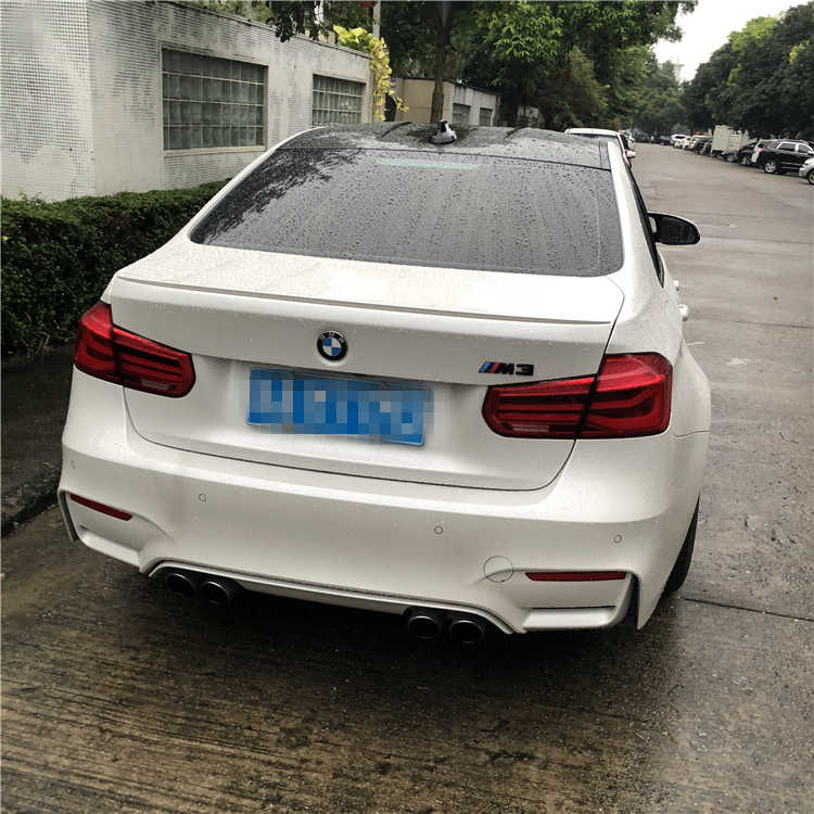 עבור BMW F30 F35 ספוילר 2012-2015 BMW M3 320i 323i 325i 328i ספוילר באיכות גבוהה ABS רכב אחורי אגף ספוילר