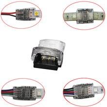 50 шт., 2 контактный, 3 контактный, 4 контактный, 5 контактный, 6 контактный разъем для светодиодной ленты, одноцветная Светодиодная лента RGB RGBW для подключения проводов/лент, используются клеммы