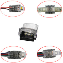 50 sztuk 2pin 3pin 4pin 5pin 6pin złącze taśmy LED dla pojedynczy kolor RGB dioda LED RGBW taśmy do drutu/taśmy połączenia używać terminali