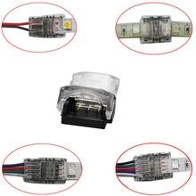 50pcs 2pin 3pin 4pin 5pin 6pin connettore striscia LED per singolo colore RGB RGBW LED Strip to Wire/Strip terminali uso